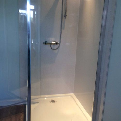 A new shower cubicle